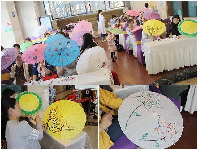 活动回顾|全面呵护孕期 手绘油纸伞朵朵开